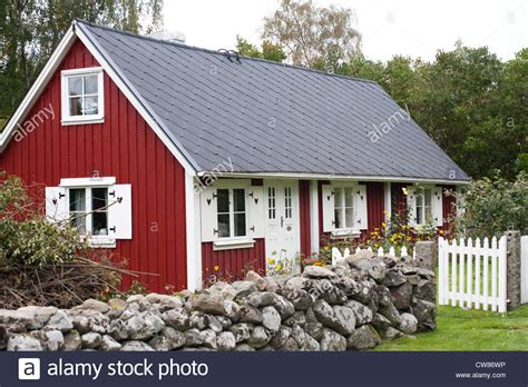 buy house sweden typical swedish red house in sk 229 ne sweden stock photo royalty free image 49968178