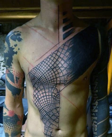 chest tattoo abstract top 90 best chest tattoos for men manly designs and ideas