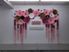 best 25 paper flower backdrop ideas on flower