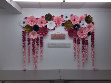 How To Make Paper Flower Backdrop - 25 best ideas about paper flower wall on