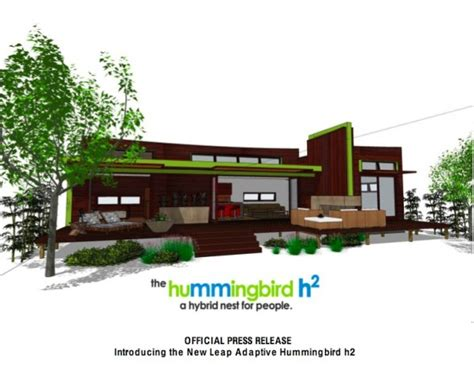 hummingbird h3 house plans new green home introducing the new leap adaptive hummingbird h2 leap adaptive green home
