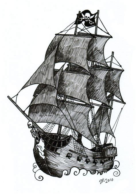 old ship tattoo designs pirate ship sketch blackandwhite