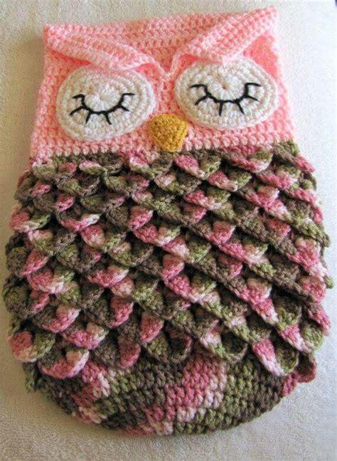 Crochet Owl Pattern Blanket by Crochet Baby Blanket Owl Cocoon Pinned For Inspiration