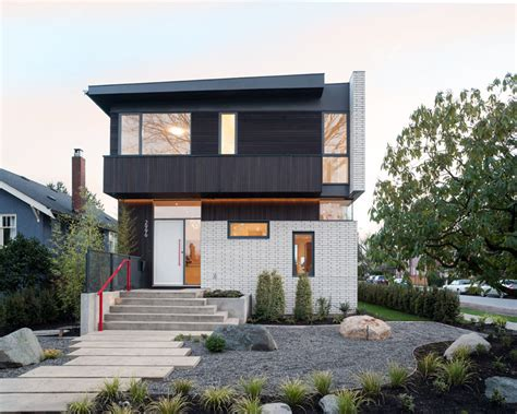 Open Floor Plan Country Homes by A New Brick And Cedar Clad Home Arrives In Vancouver