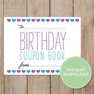 printable birthday coupon template printable birthday coupon book editable pdf diy birthday