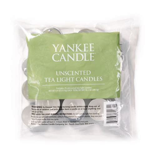 yankee candle tea lights unscented tea light candles yankee candle