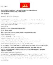 mcdonalds application redstarresume
