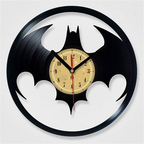 The Batman Clock Gives You Cool Credentials by Vinyl Record Batman Clock Batman Clocks And