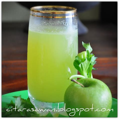 jus apple celery apple celery juice resepi terbaik