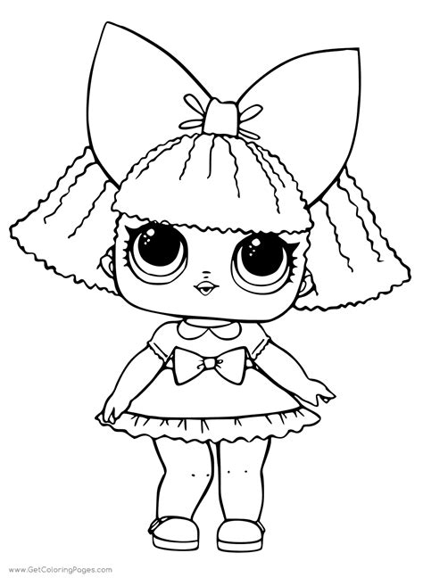 Treasure LOL Surprise Doll Colouring Pages   Get Coloring