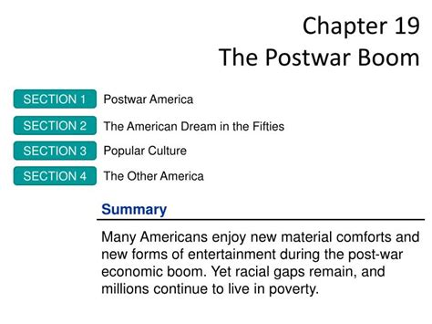 chapter 19 section 3 popular culture ppt chapter 19 the postwar boom powerpoint presentation