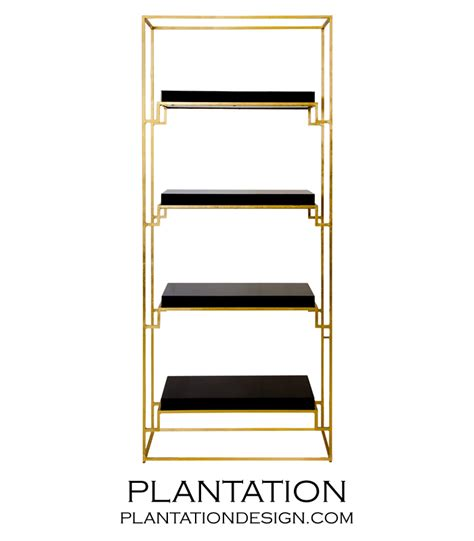 Gold Shelf by Renzo Gold Leaf Shelf Black Plantation