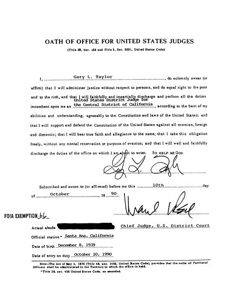 oath of office template