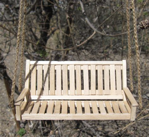 how to make a porch swing how to make a mini porch swing miniature museum