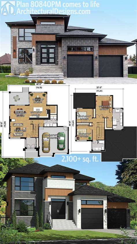 contempory house plans plan 80840pm multi level modern house plan modern house