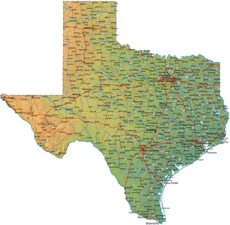 map of all texas cities texas map and texas satellite images