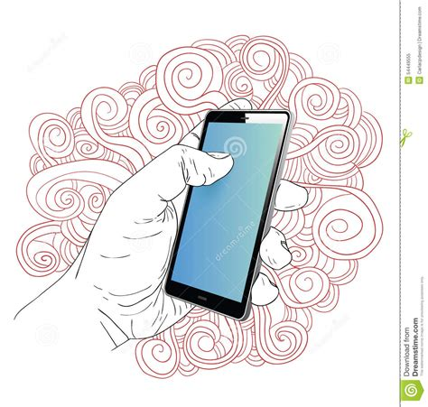 phone doodle free vector phone doodle set vector illustration