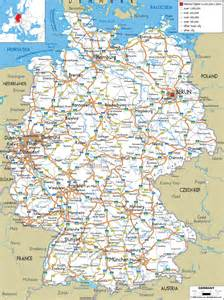 large detailed road map of germany with all cities and