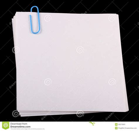 imagenes para hojas blancas hojas con un clip de papel fotos de archivo imagen 32073353