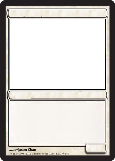 mtg card frame template mtg blank white card by growlydave on deviantart