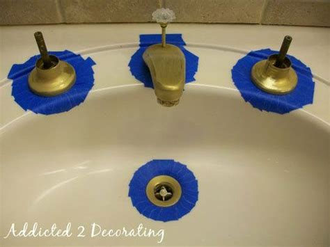 spray paint bathroom fixtures before after spray painting bathroom faucets addicted 2