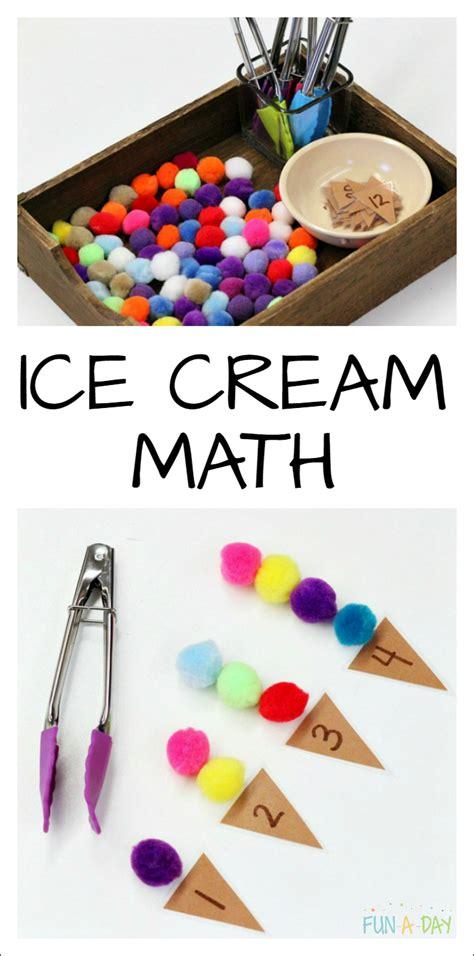 kindergarten activities summer summer math that s perfect for a preschool ice cream theme