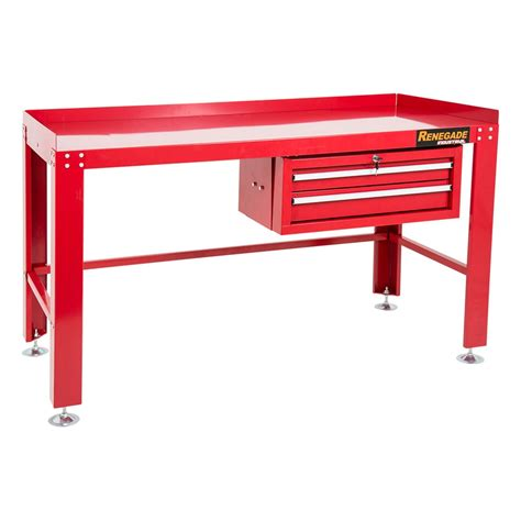 work bench desk riwb2d renegade industrial work bench 2 drawer workshop