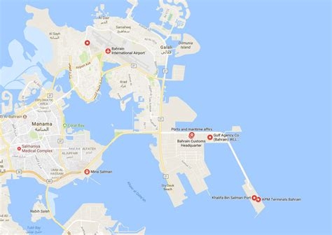 ports  bahrain container terminal ports  bahrain map