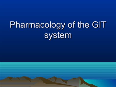 Pharmacology Powerpoint Git Drugs Pharmacology Powerpoint Presentation