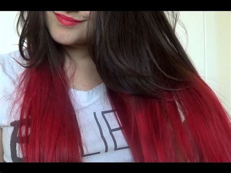 how to dye tips of hair with red kool aid for black hair how to red dip dye hair youtube