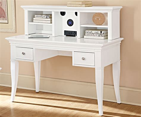 white desk and hutch beacon 2 pc writing desk and hutch white computer desk