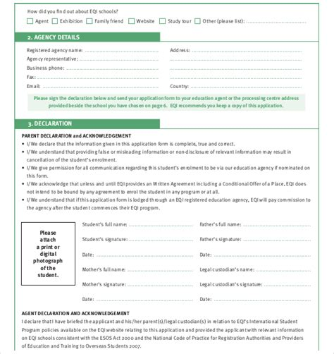 doc 600730 student enrollment form template