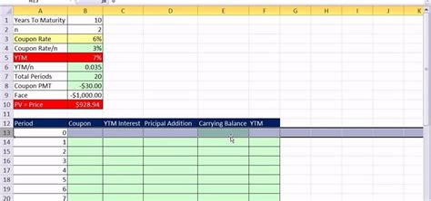 How To Create A Bond Discount Or Premium Amortization Table In Excel 171 Microsoft Office Microsoft Excel Amortization Template