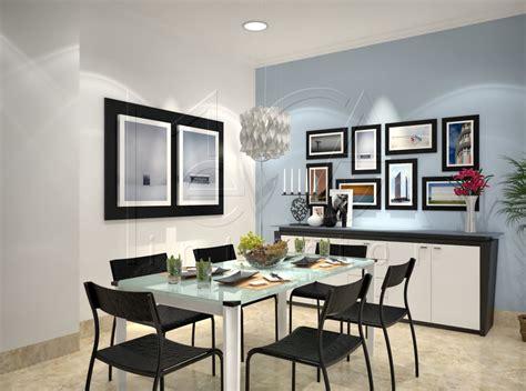 Kitchen Cabinet Interior Fittings Ruang Makan Sthi Dining Din6690 Mi Design Amp Interior