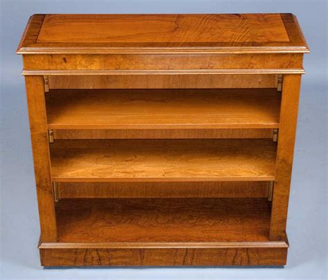 antique style walnut open bookcase for sale antiques