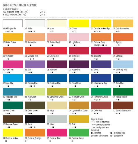 goya triton acrylic artists acrylic paints colors for artists products