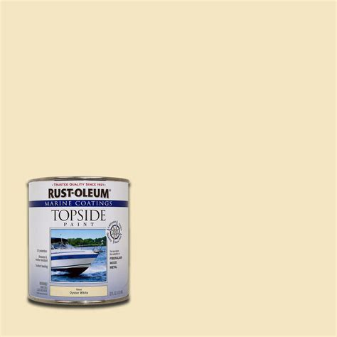 boat paint topside rust oleum marine 1 qt gloss oyster topside paint case