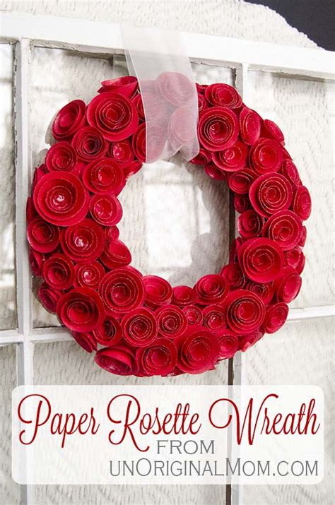 wreath diy diy paper rosette wreath with free cut file unoriginal