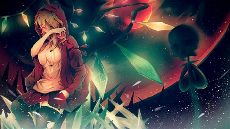 anime girl wallpaper space anime girls artwork blondes fantasy hoodies planets r