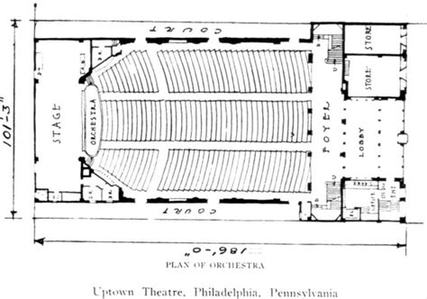 movie theatre floor plan uptown theatre in philadelphia pa cinema treasures