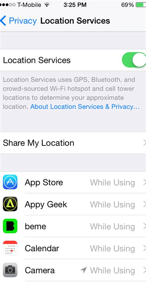 ls that turn on by touch how to turn your location on iphone how to turn off