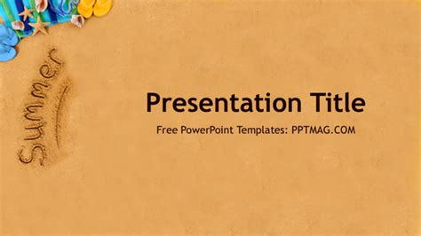 Free Summer Powerpoint Template Prezentr Summer Powerpoint Templates