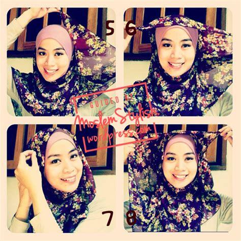 tutorial hijab segi 4 dua lapis cara menggunakan hijab segi 4 cara memakai hijab paris dua