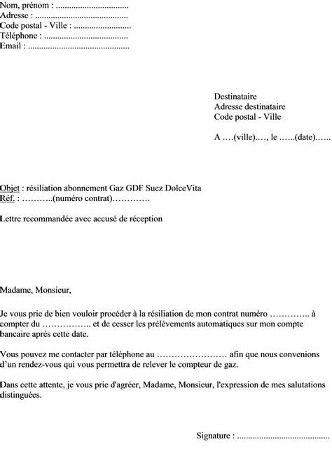 Lettre De Résiliation Veolia Exemple Lettre Resiliation Veolia