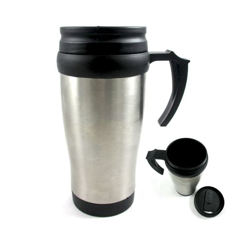stainless steel insulated double wall travel coffee mug