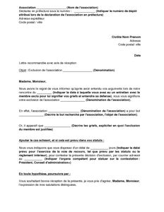 Exemple De Lettre De Démission Association Modele Lettre De Demission Du Bureau D Une Association