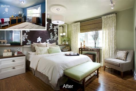before and after bedroom makeover with moss and coral candice olson bedroom makeovers before and after photos