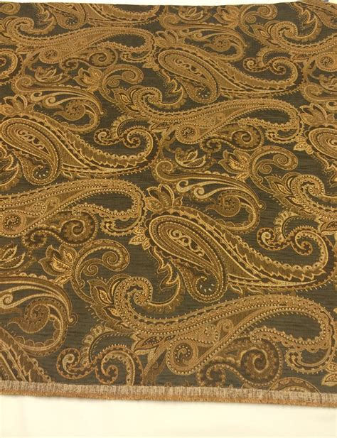 brown paisley upholstery fabric paisley upholstery fabric dark olive green brown jacquard