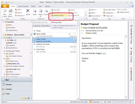 2 Calendars In Outlook 2010 My Preview Outlook 2010 Calendars Inbox Le