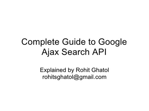 Search By Email Address Api Complete Guide To Ajax Search Api
